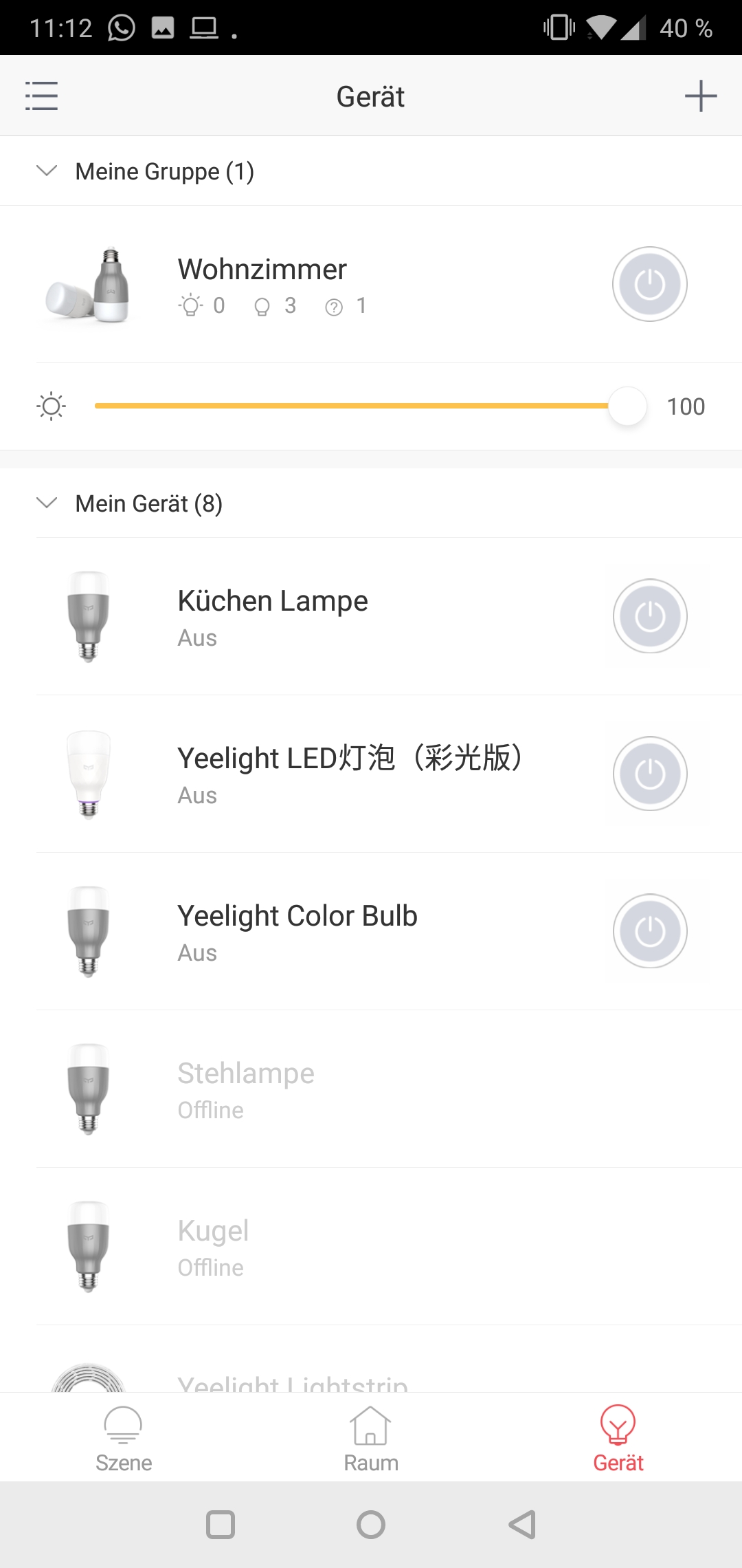 Yeelight 2nd Generation Smart Bulb Glühbirne Testbericht Screenshot Yeelight App Google Smart Home 6