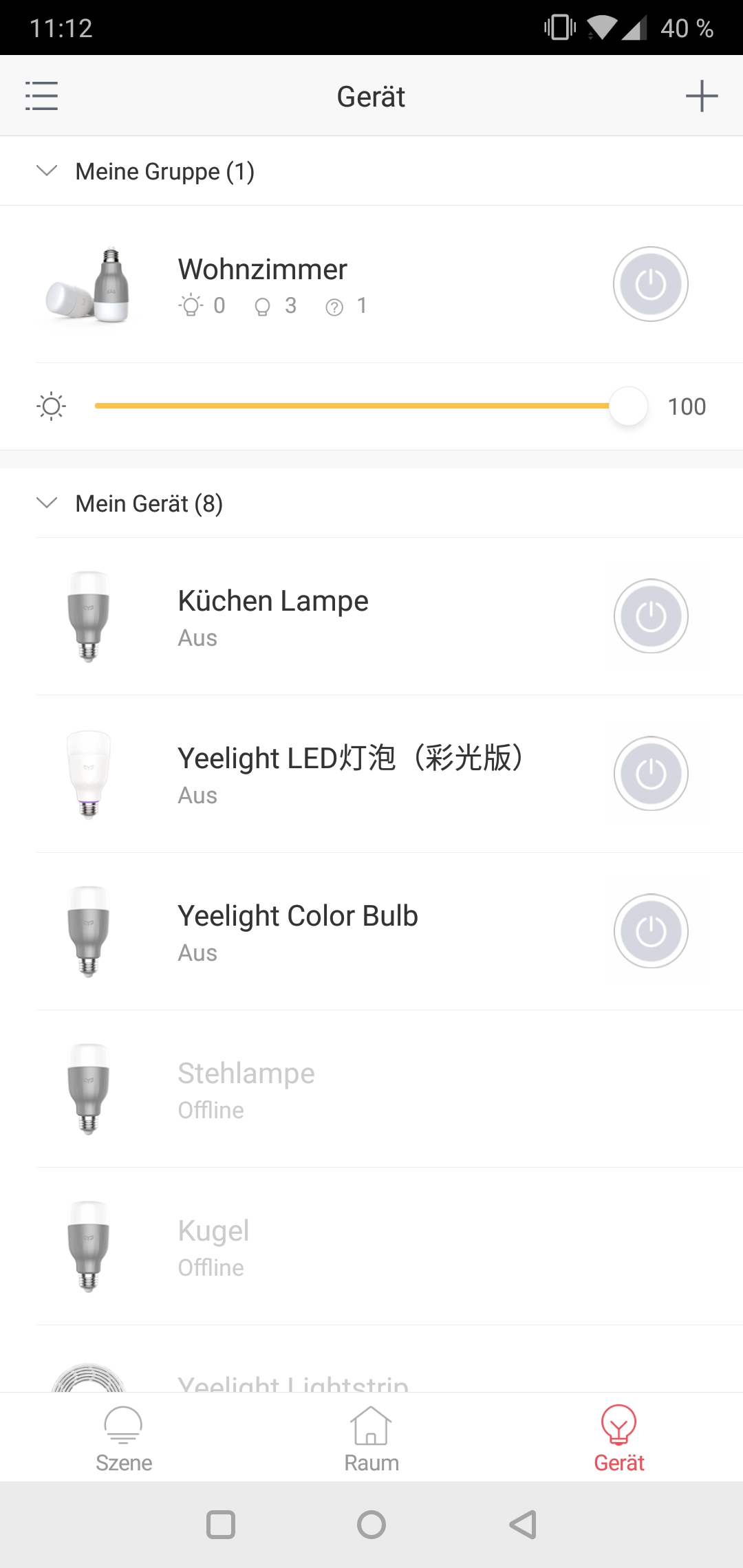 Yeelight 2nd Generation Smart Bulb Glühbirne Testbericht Screenshot Yeelight App Google Smart Home 7