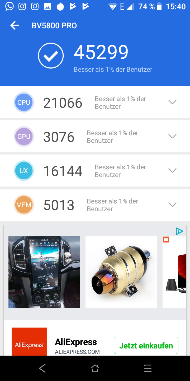 Screenshot Antutu Blackview BV5800 Pro