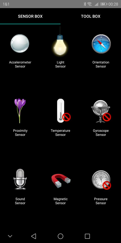Honor 7C Sensors