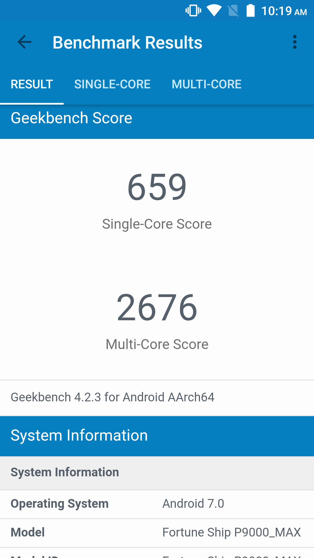 PoptelP9000Max Geekbench