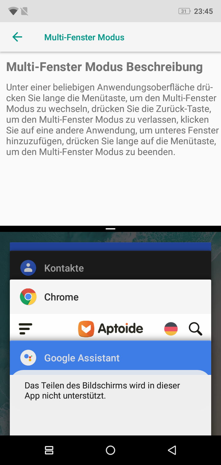Ulefone X Multi windows