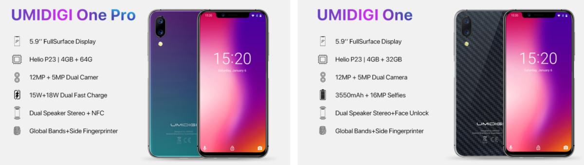 Umidigi One One Pro Ankündigung One One Pro Vergleich