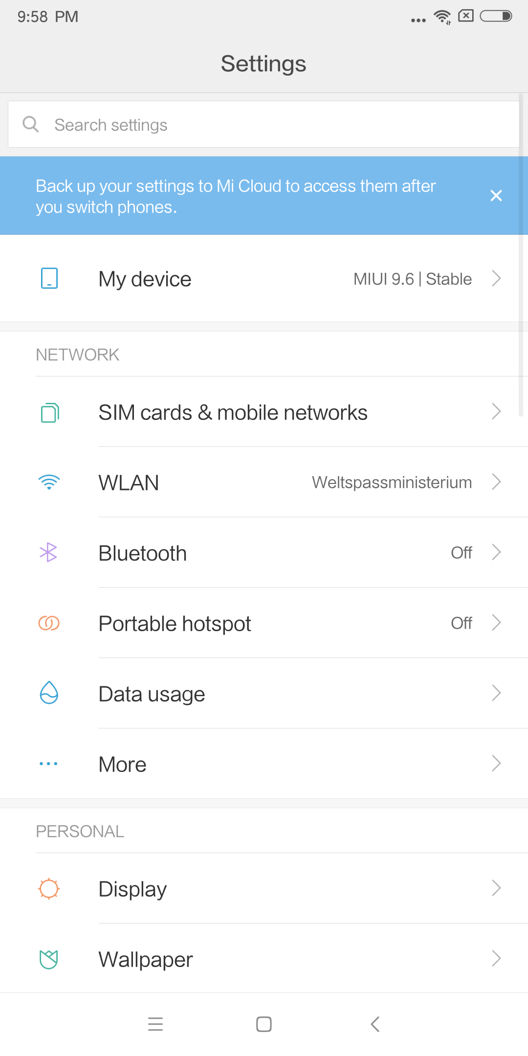 Xiaomi Mi Max 3 MIUI Android 8 2