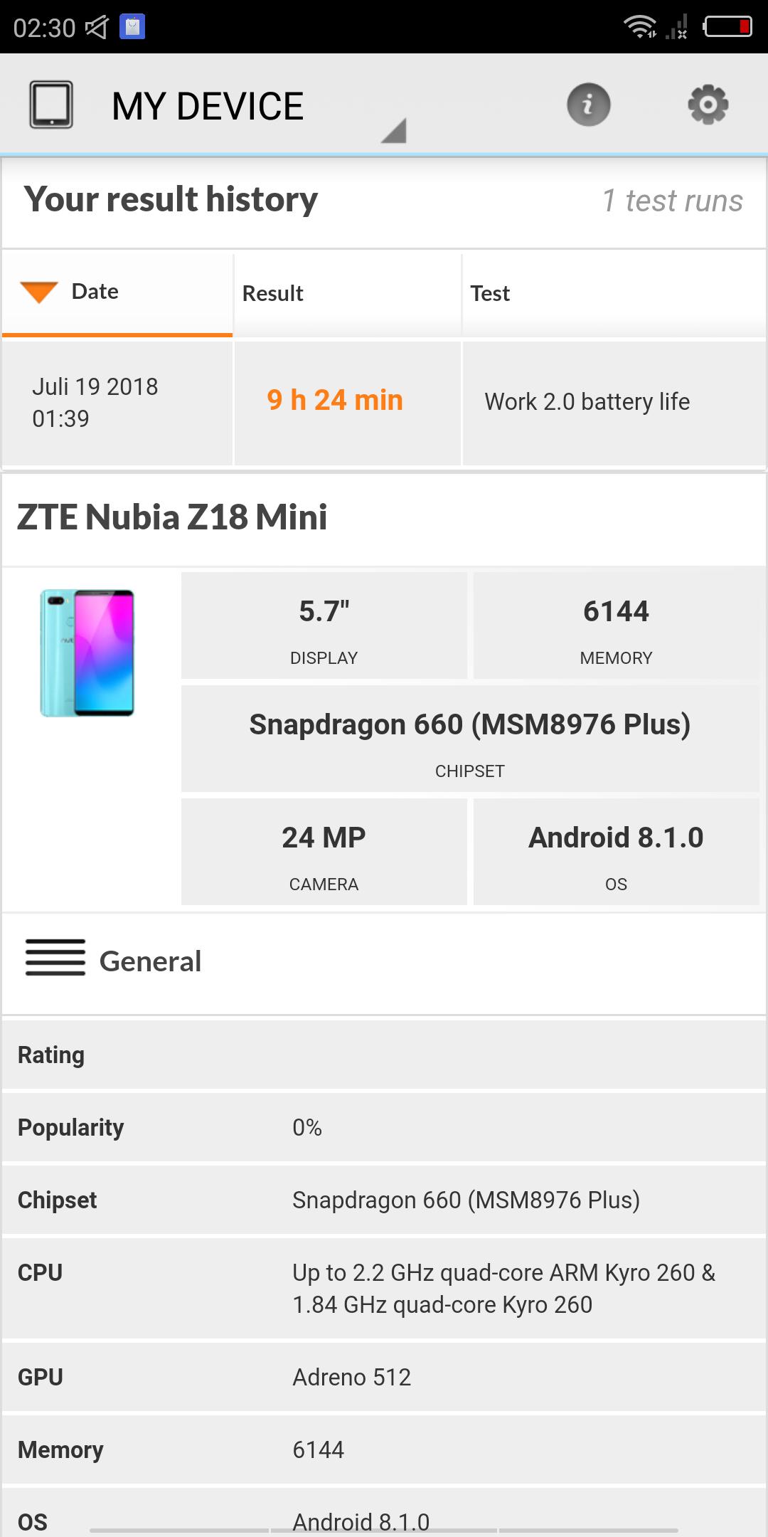 Nubia Z18 Mini System Benchmarks 1