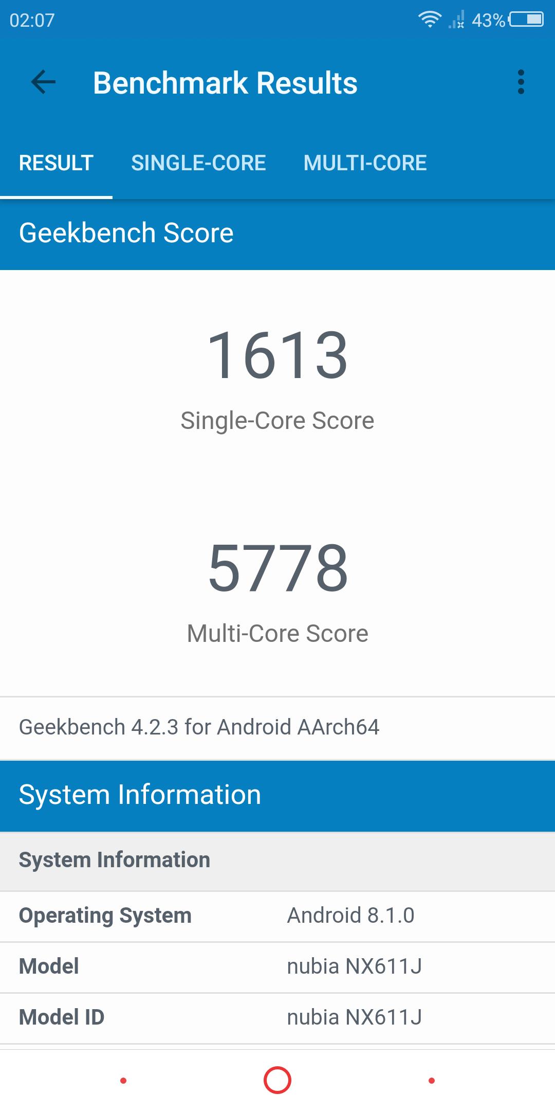 Nubia Z18 Mini System Benchmarks 14
