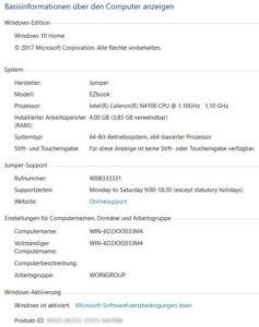 EZBook X4 Win10 Extract