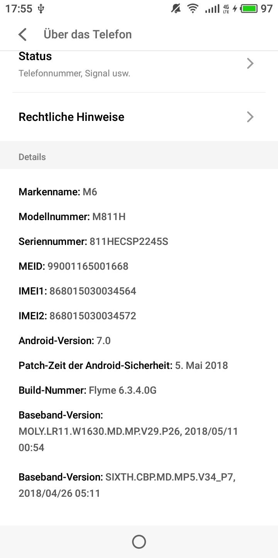 Meizu M6T System 2