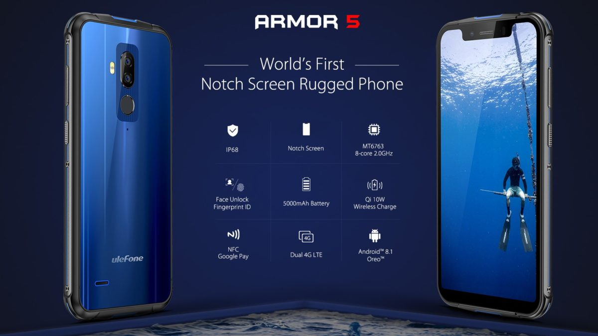 Ulefone Armor 5 First Outdoorphone with Notch 3