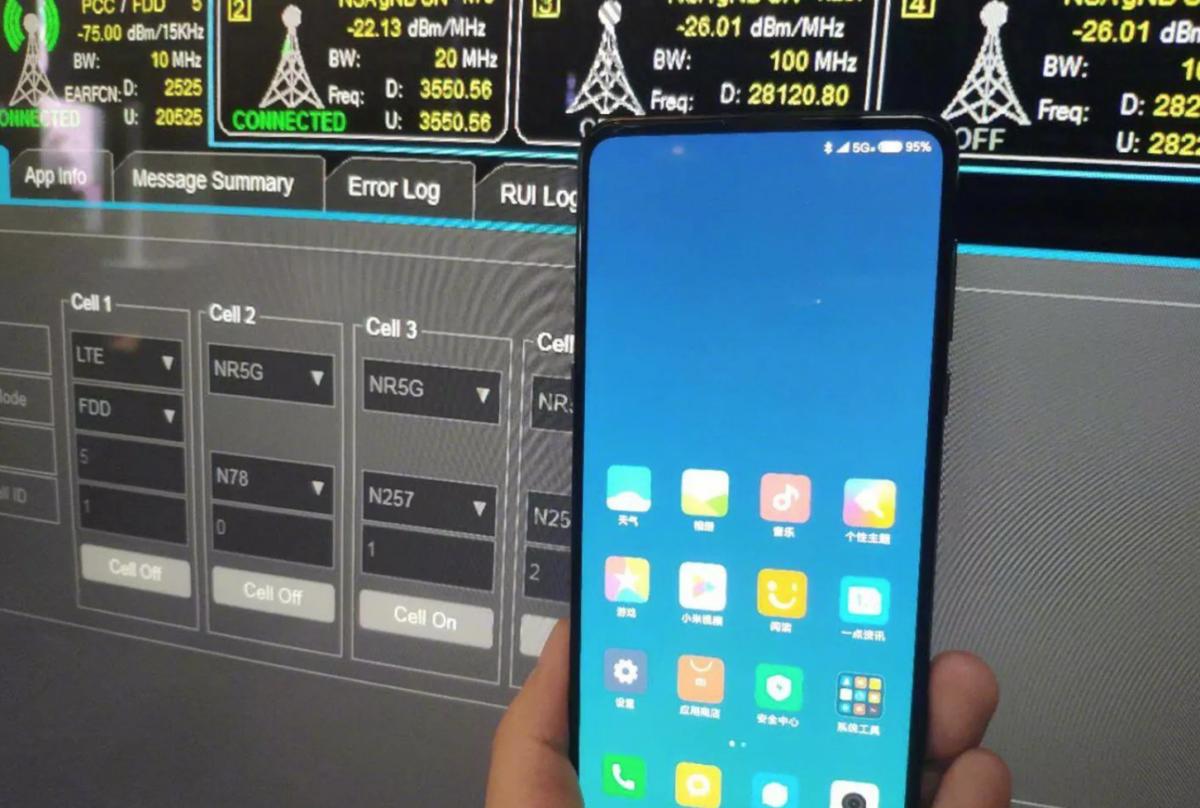 Xiaomi Mi Mix 3 5G Empfang
