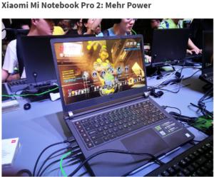 Xiaomi Mi Notebook Pro Mi Gaming Notebook Update 3