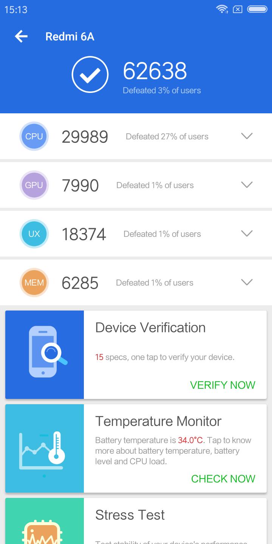 Xiaomi Redmi 6a Testbericht Screenshots Benchmarks 12