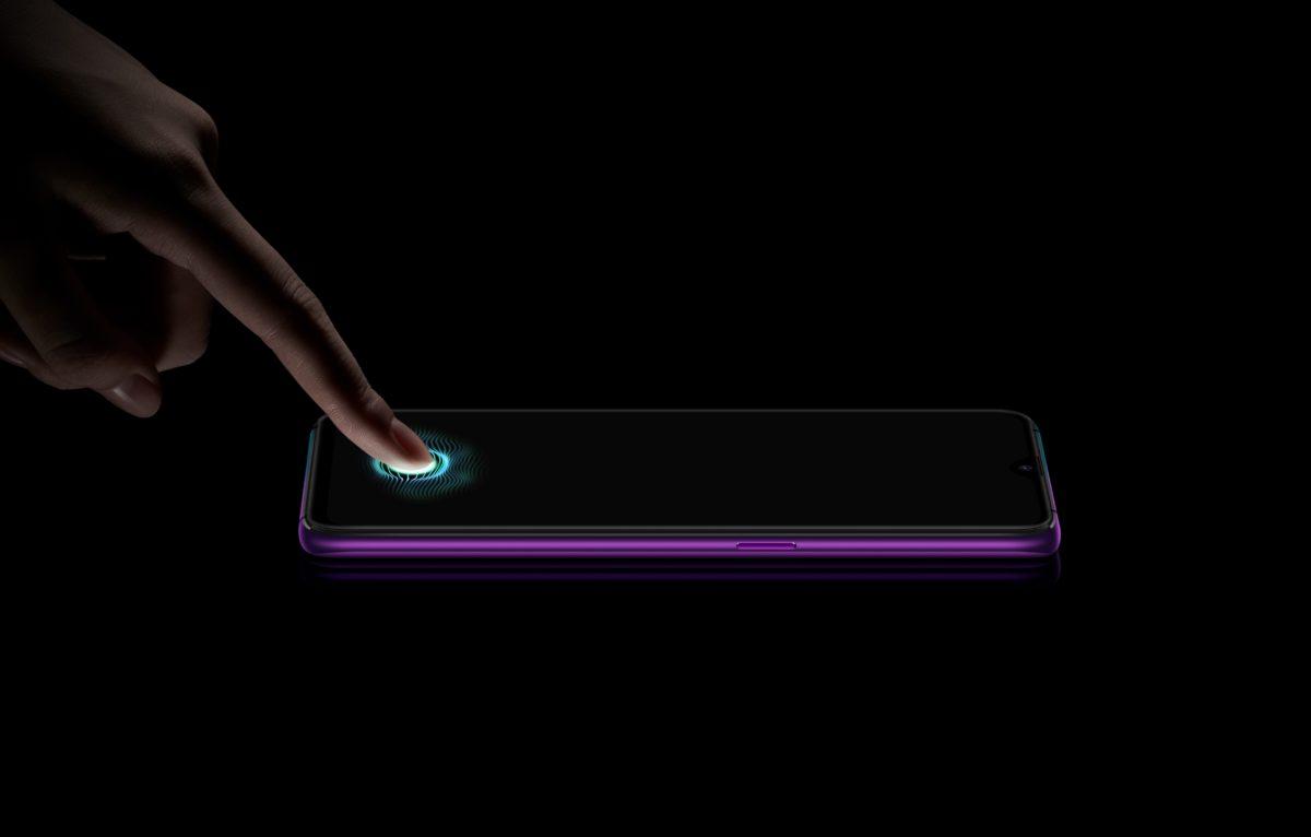 Oppo R17 Pro Fingerabdruck im Display