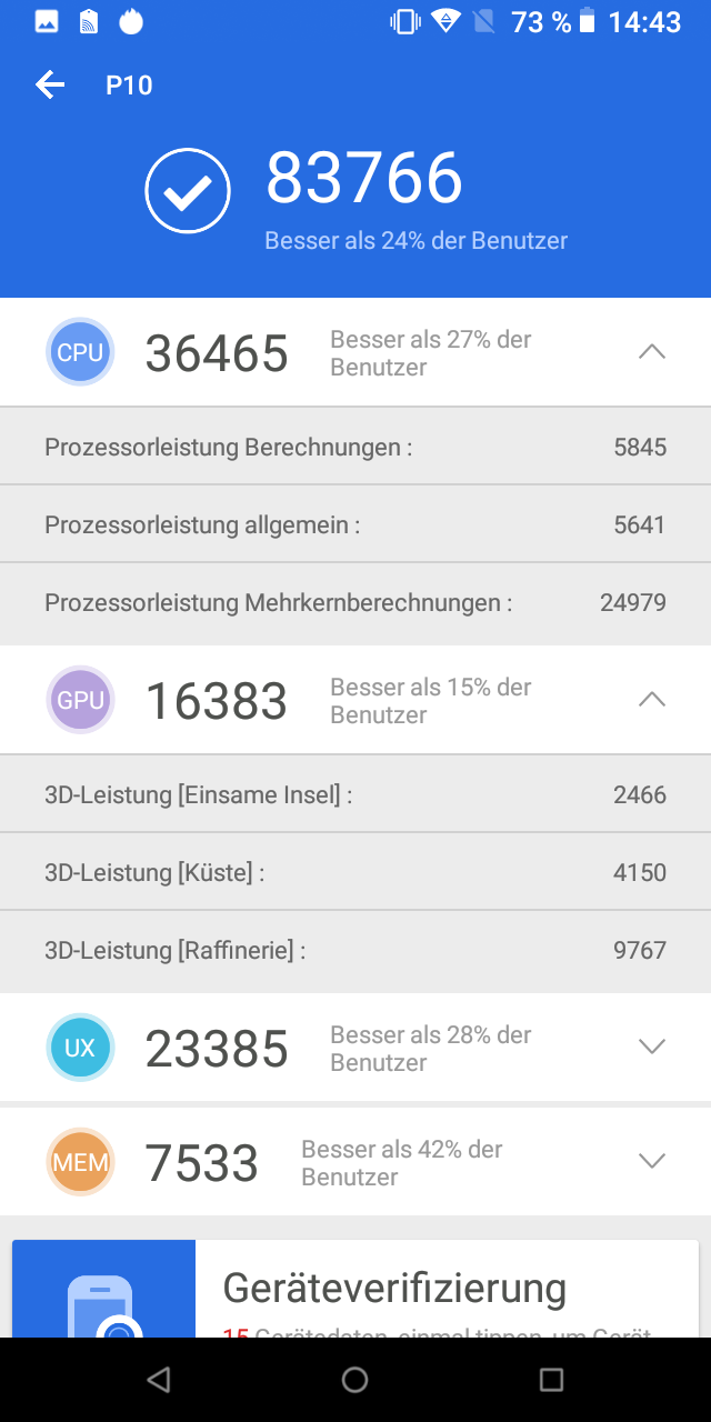 Poptel P10 Testbericht Outdoor Smartphone Screenshots 4