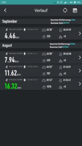 F1 FunDo App Sport Verlauf
