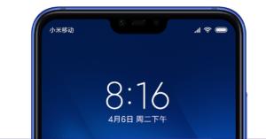 Xiaomi Mi 8 Lite Notch
