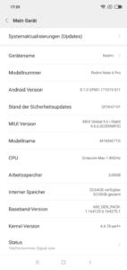 Xiaomi Redmi Note 6 Pro System MIUI 9 2