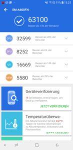 Samsung Galaxy A6 Antutu