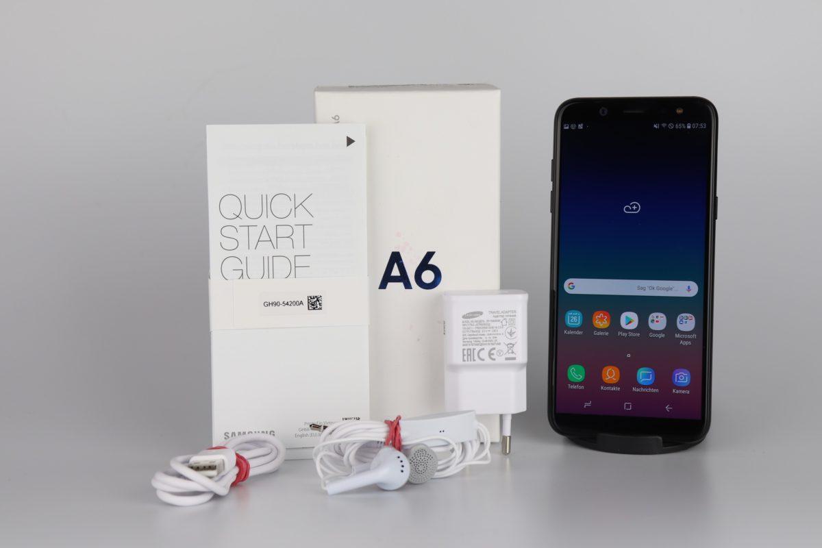 Samsung Galaxy A6 Lieferumfang 1