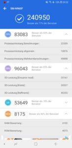 Samsung Galaxy Note 9 Testbericht Screenshot 2