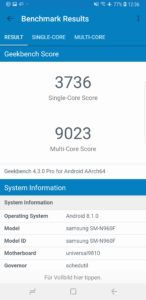 Samsung Galaxy Note 9 Testbericht Screenshot 5