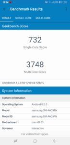 Samsung Galaxy A6 Benchmarks 3