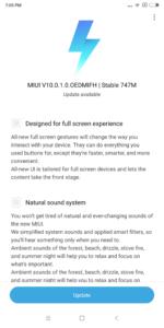 Xiaomi Mi Max 3 MIUI 10 Global Update 1