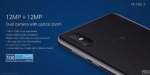 Xiaomi Mi Mix 3 Kamera