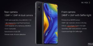 Xiaomi Mi Mix 3 Main Features