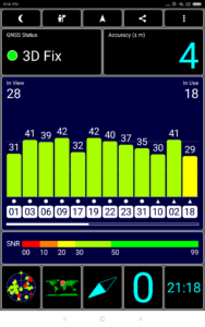 GPS Test Empfang Xiaomi MI Pad 4 Plus 2