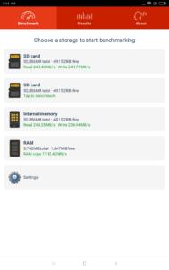 Speicher Geschwindigkeit Xiaomi MI Pad 4 Plus