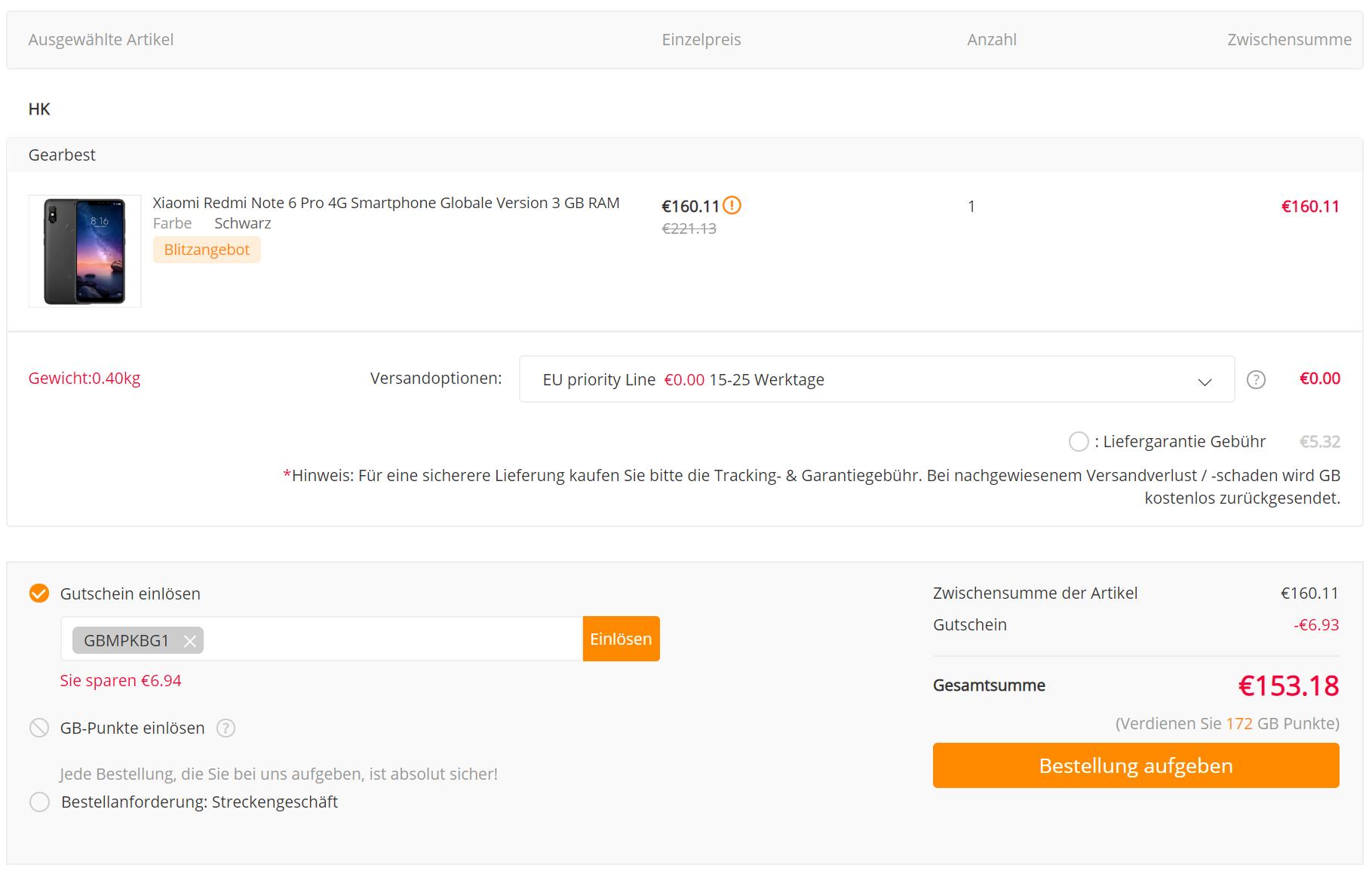 Redmi Note 6 Pro Gearbest Bestellung.png