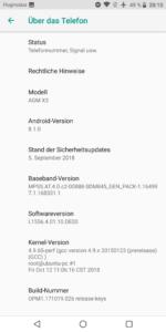 AGM X3 Testbericht Outdoor Smartphones Screenshots System 4