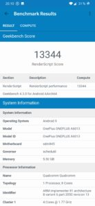 OnePlus 6T Geekbench GPU