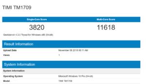 Geekbench 4 CPU benchmark