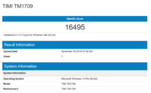 Geekbench Open CL Score