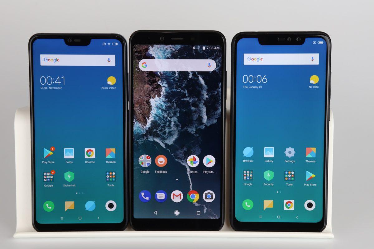 Xiaomi Mi8 Lite vs. Mi A2 vs. Redmi Note 6 Pro