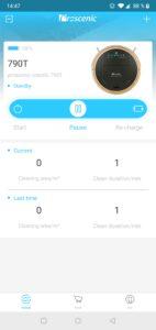Proscenic Coco Smart 790T Staubsaugerroboter Testbericht Screenshots Proscenic App 6