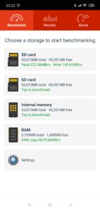 Xiaomi Mi Play Sepichergeschwindigkeit