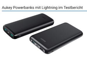 Aukey Powerbanks mit Lightning im Testbericht  Beitragsbild