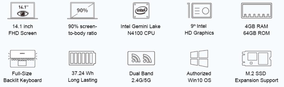 Chuwi LapBook Pro Ultrabook Ankündigung 12