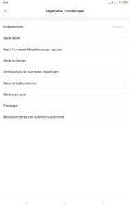 Roborock Xiaowa E35 App Einstellungen 6