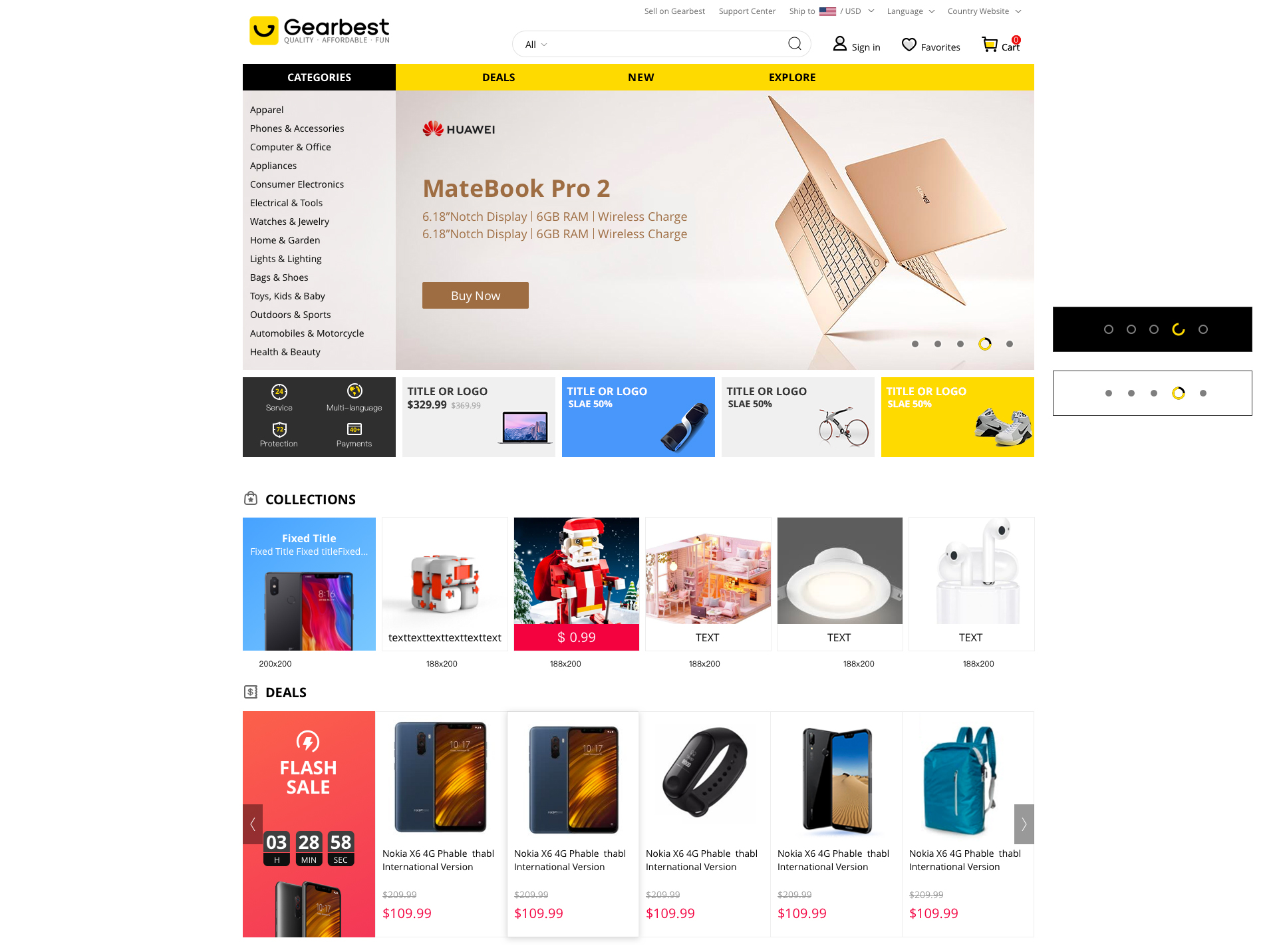 Gearbest neue Website