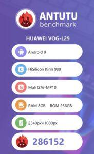 Huawei P30 Antutu