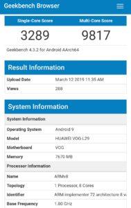 Huawei P30 Pro Geekbench 4