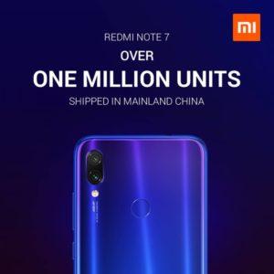 Xiaomi Redmi Note 7 1 Millionen