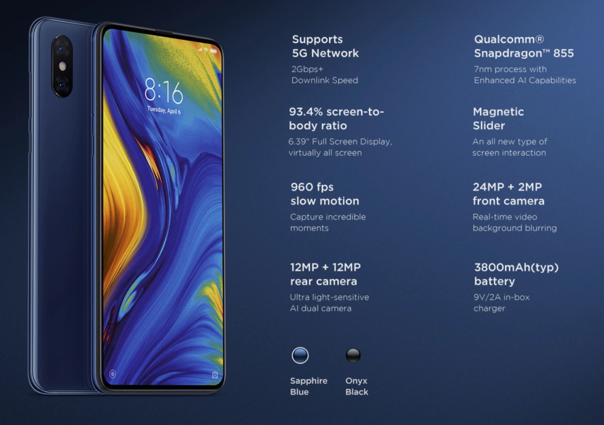 Xiaomi Mi Mix 3 5G Version