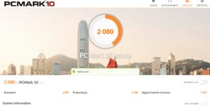 chuwi aerobook pcmark benchmark2