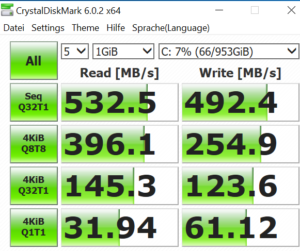 chuwi aerobook ssd speed