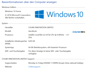 chuwi windows 10 home lizens